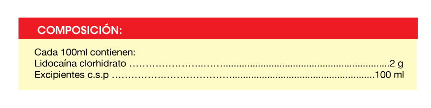 Lidocaína-Composicion